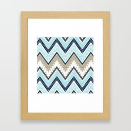 Blue India Framed Art Print