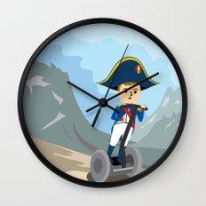 Napoleon Segways the Alps Wall Clock