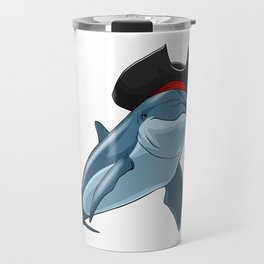 Pirate Dolphin Viking Novelty Halloween Travel Mug