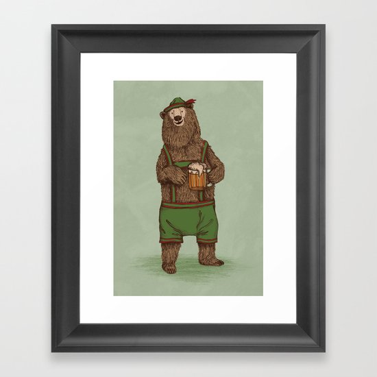 Traditional German Bear Framed Art Print