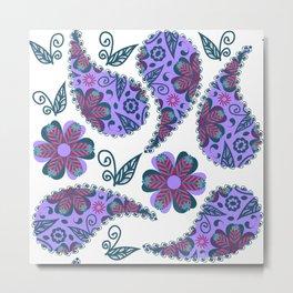 Paisley pattern #D1 Metal Print