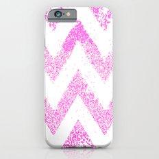 sparkly pink chevron iPhone 6 Slim Case