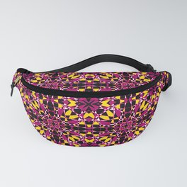 Gold and Rose Tile Pattern Fanny Pack