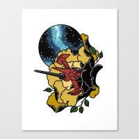 cowboy bebop Canvas Prints featuring Cowboy Bebop Swordfish II by Carrie South