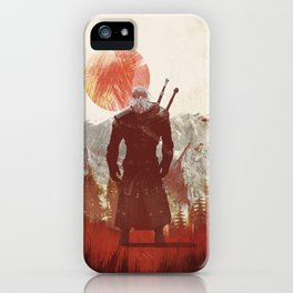 The Witcher Geralt variation print iPhone Case