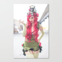 monika strigel Canvas Prints featuring Monika Lee as Poison Ivy by Long Thai - mineralblu.com