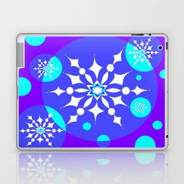 A Winter Snowy Design with Pretty Snowflakes Laptop & iPad Skin