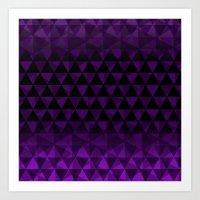Purple Trijungle Art Print