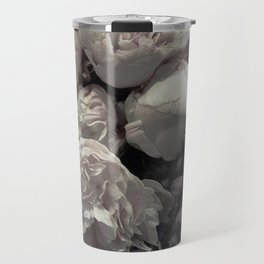 Peonies pale pink and white floral bunch Travel Mug