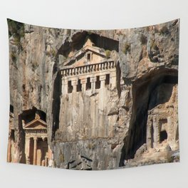 Lycian Tombs Cut From Rock Circa 400 BC Wall Tapestry