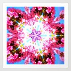 Pink Flower Power Art Print