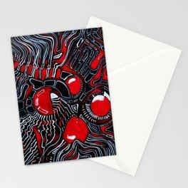 Red Maze Stationery Cards