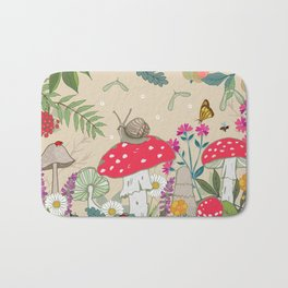 Toadstools in the Woods Bath Mat