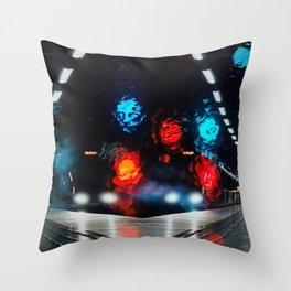 Subway reflection Throw Pillow