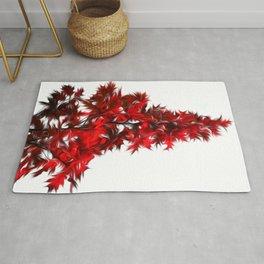 Painted Maple Leaves Rug