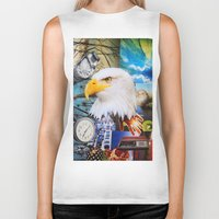 eagle Biker Tanks featuring Eagle by John Turck