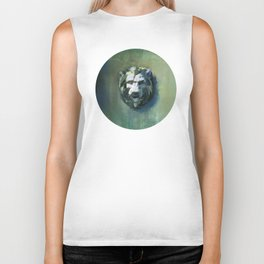 Lion Head Green Marble Biker Tank
