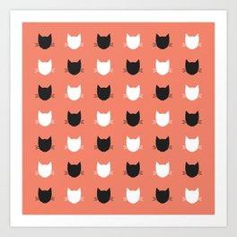 Cat Pattern 02 Art Print
