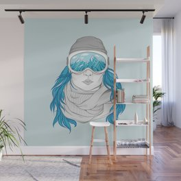 snowboarder girl Wall Mural