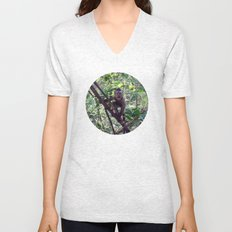 Monkey Sanctuary – Monkey with attitude Unisex V-Neck