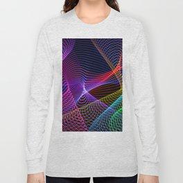 Rainbow Tornados Light Painting Long Sleeve T-shirt