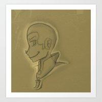 tyler oakley Art Prints featuring Ben Oakley by LittlestLarper