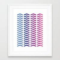 herringbone Framed Art Prints featuring Herringbone by Snowberry Co.