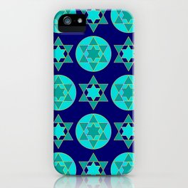 Hanukkah Jewish Star Contemporary Geometric Pattern iPhone Case