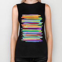 Colorful Stripes 1 Biker Tank