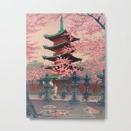 Eight Views of Tokyo - Toshogu Shrine Kasamatsu Shiro Japanese Woodblock Painting Asian Beautiful Metal Print