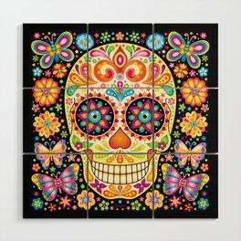 Día de Muertos Sugar Skull (Fiesta) Wood Wall Art
