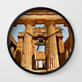 Agrigento and the Valley of the Temples Wall Clock