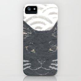 Cat, Black Cat, Modern Japanese, Asian iPhone Case