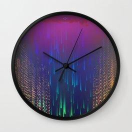 Rain over The Golden Chamber Wall Clock