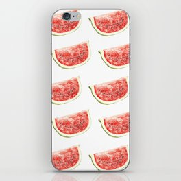 Watercolor Watermelon Slices Pattern iPhone Skin