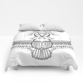 Ancient Egyptian Penta-Scarab Comforters