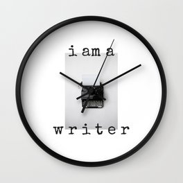 I am a Writer  Theme Wall Clock