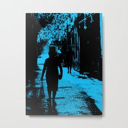 Blue party in the village Metal Print