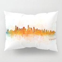 Vancouver Canada City Skyline Hq v03 Pillow Sham