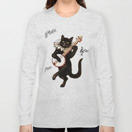 Cute Vintage Dancing Cat Long Sleeve T-shirt