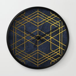 Golden Geometric Pattern Wall Clock