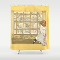 window Shower Curtains featuring Window by CHAR ODEN