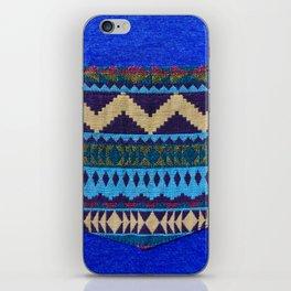 Blue Pocket Design iPhone Skin