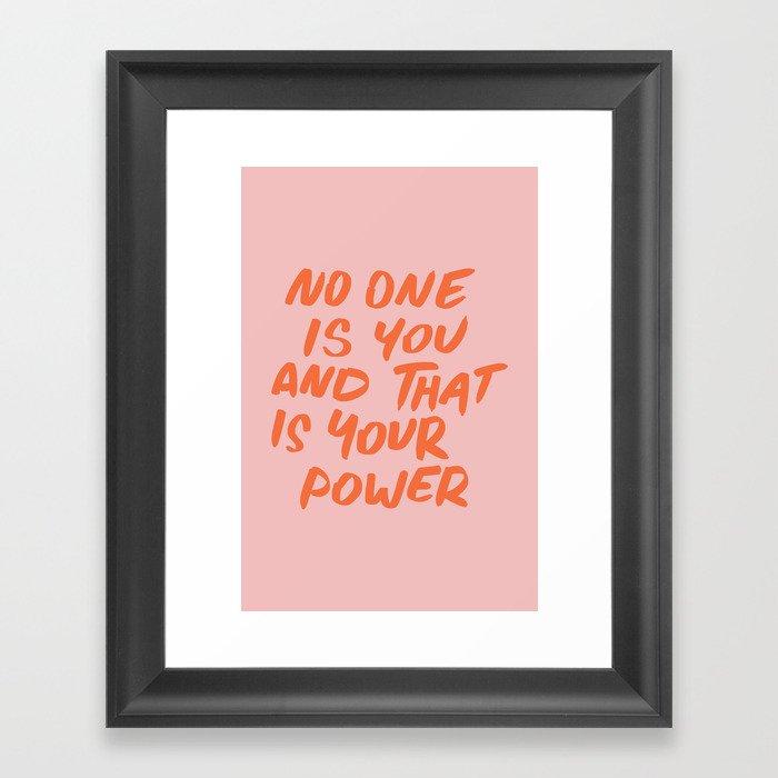 Power Gerahmter Kunstdruck