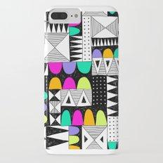 neon colors pattern with doodle elements. Slim Case iPhone 7 Plus