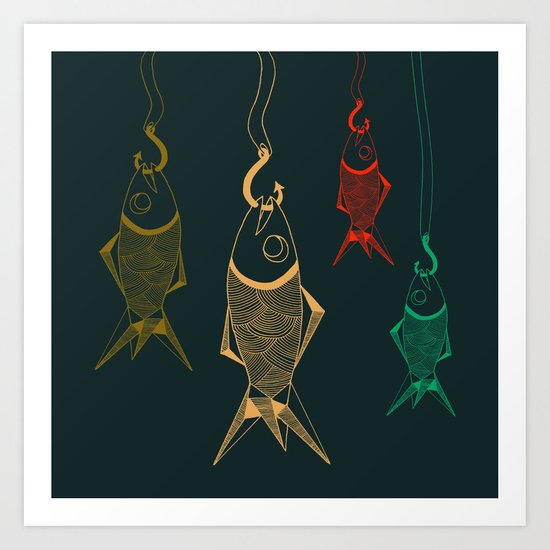 those are not fishes Art Print