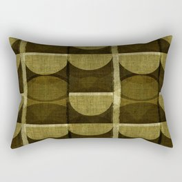 """Retro Olive green Chained Circles"" Rectangular Pillow"