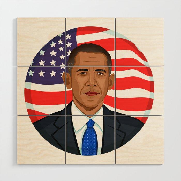 President Obama Wood Wall Art