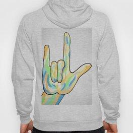 ASL I Love You in Gray Tones Hoody