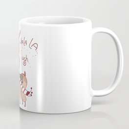 Unamused Llama Christmas Themed - Brown Coffee Mug
